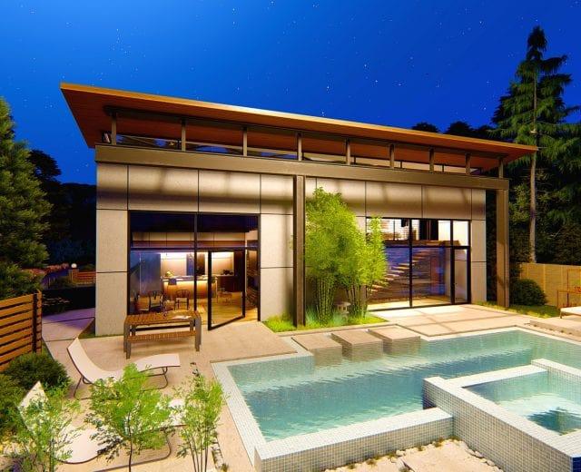 a pool house
